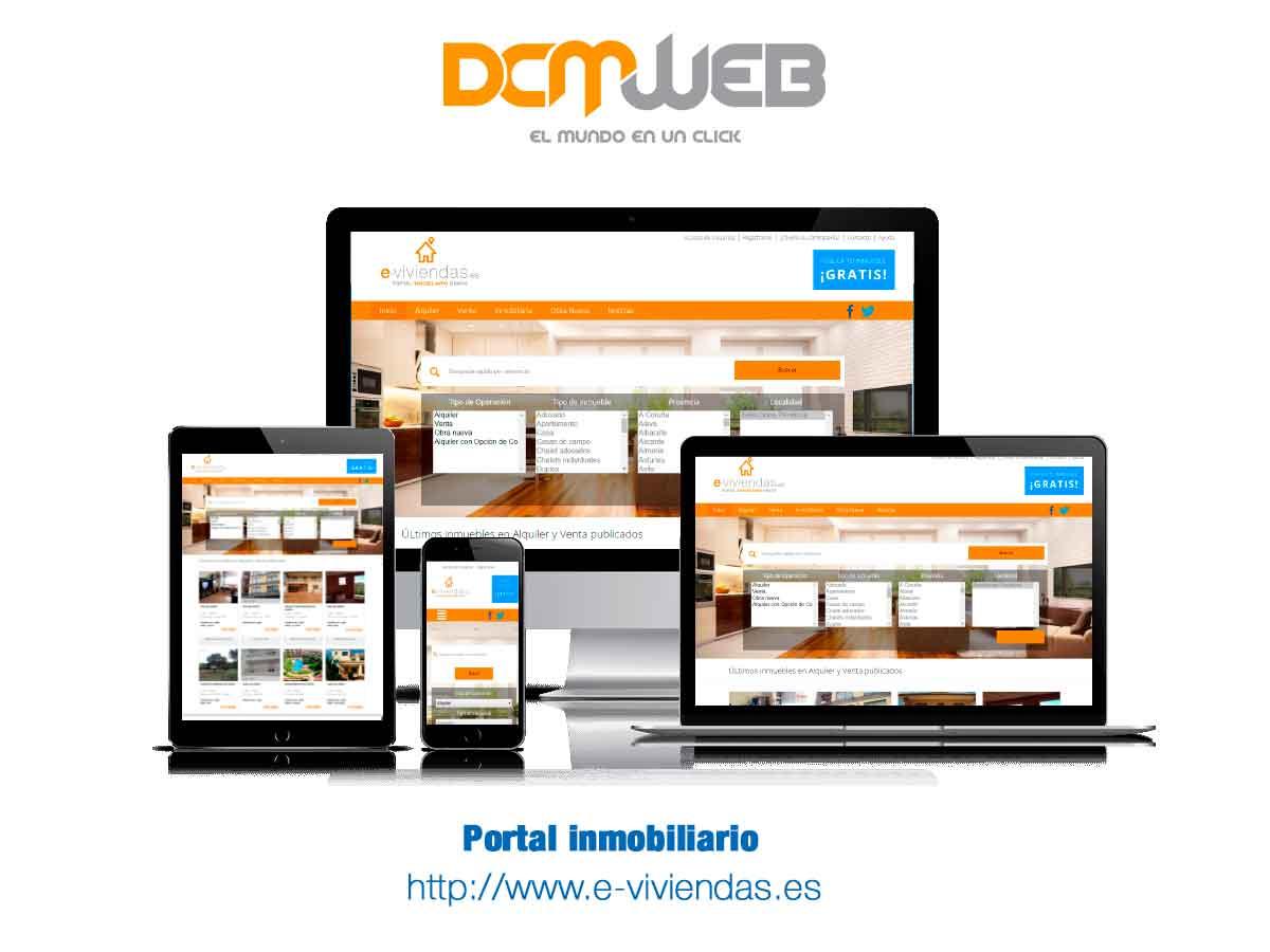 Portal de anuncios inmobiliarios - e-viviendas.es