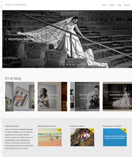 Diseño web para Paton Fotógrafos
