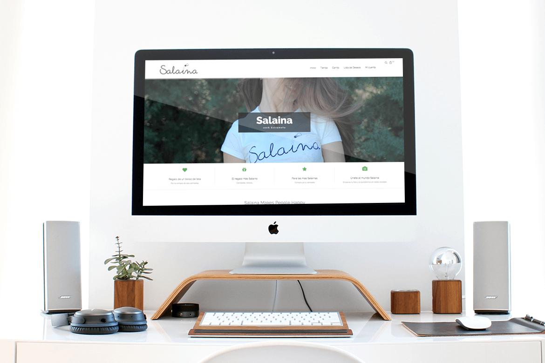 Tienda online, logotipo e imágenes de Salaina