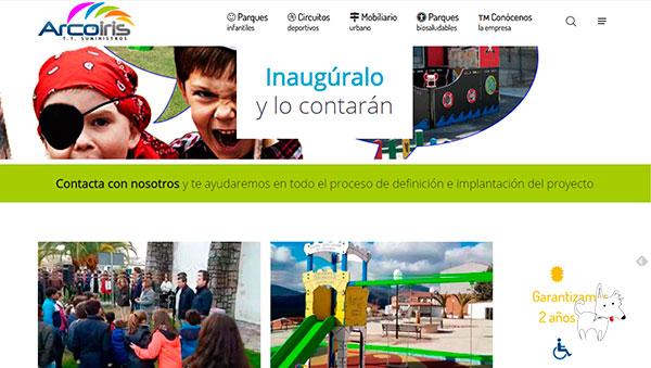 Desarrollo web corporativo para fábrica de parques infantiles