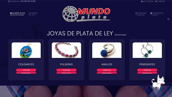 Desarrollo de tienda online de joyas de plata