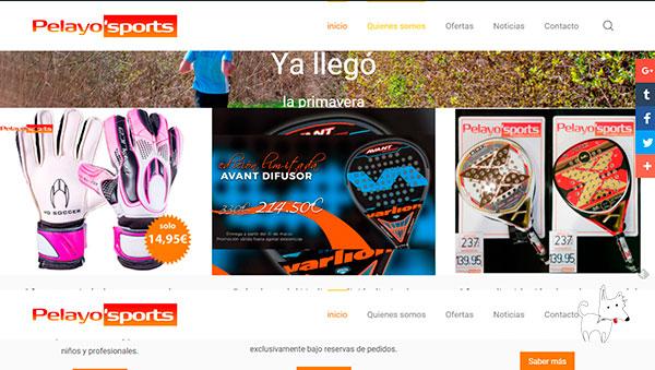 Diseño website para tienda deportiva