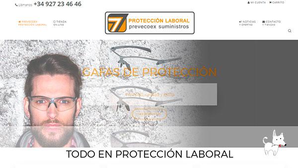 Creación de tienda online de productos de protección laboral