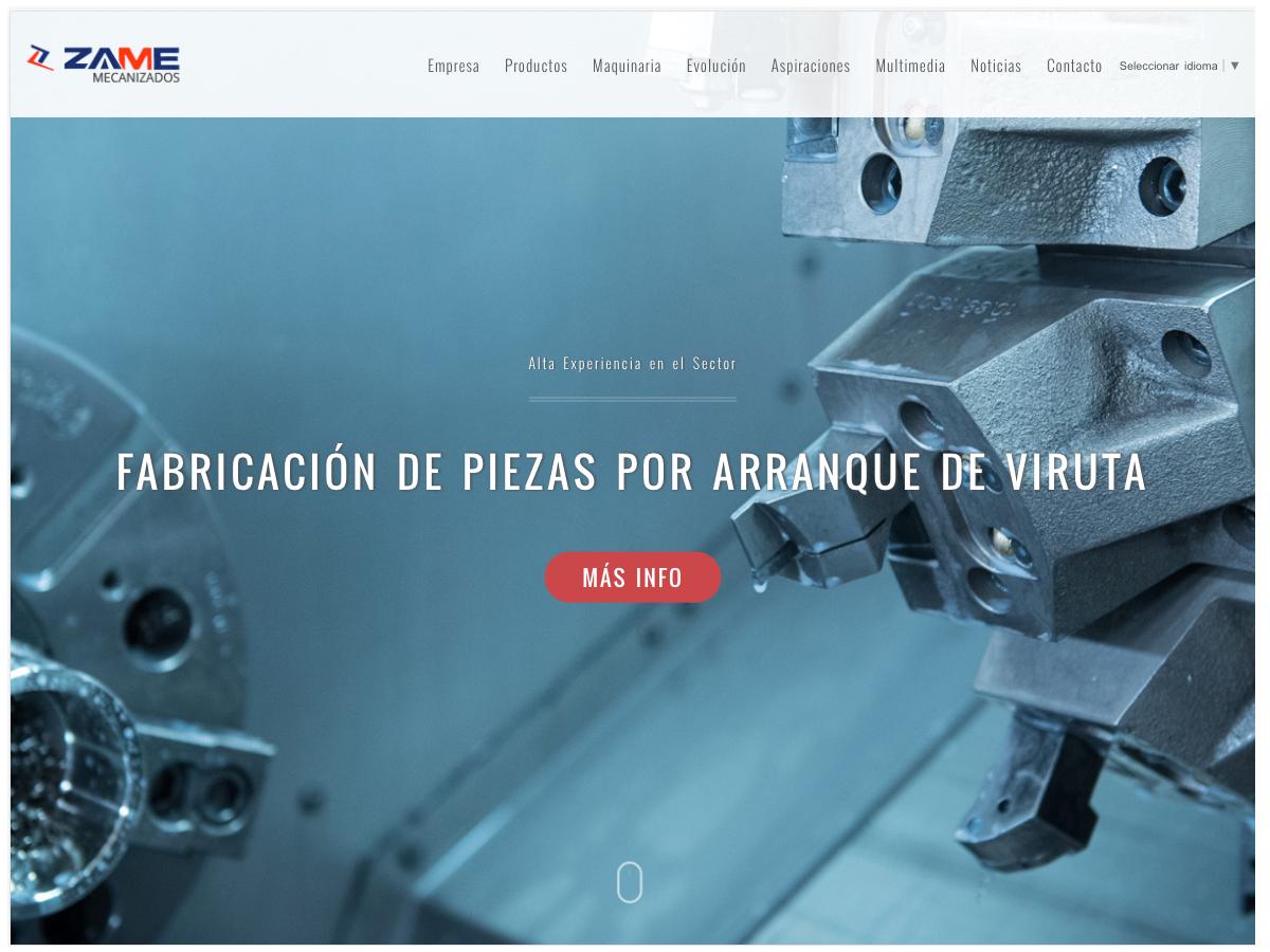 Empresa de Mecanizados HTML5, CSS y PHP