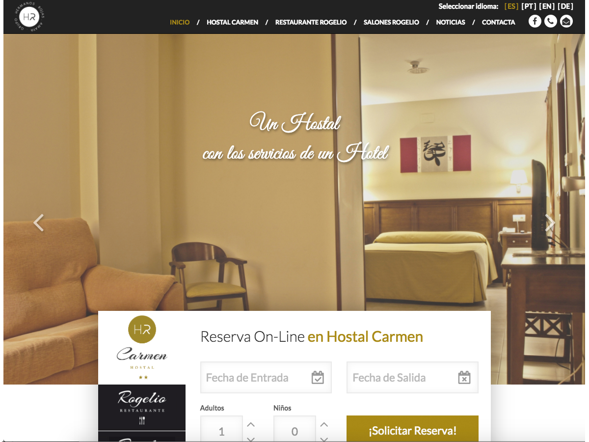 Hotel de Zafra HTML5, CSS y PHP