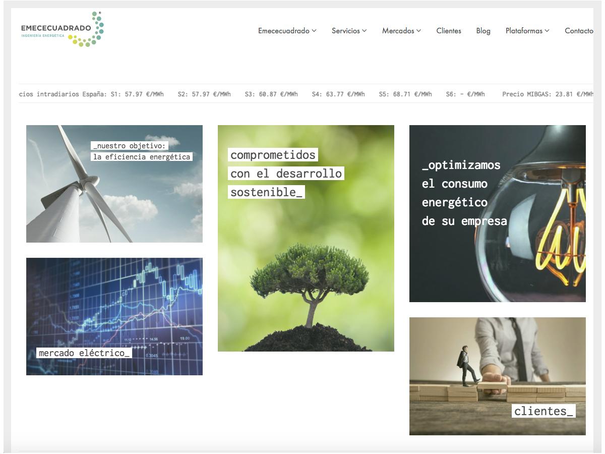 Consultora de Energía HTML5, CSS y PHP