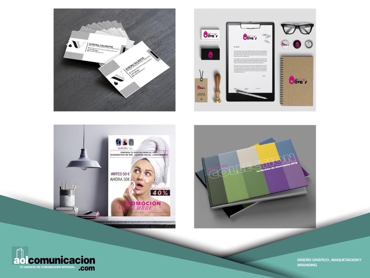 Diseño gráfico, maquetación y branding